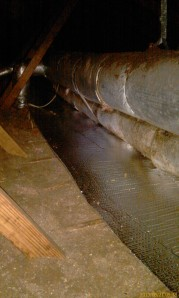 water shield under duct work